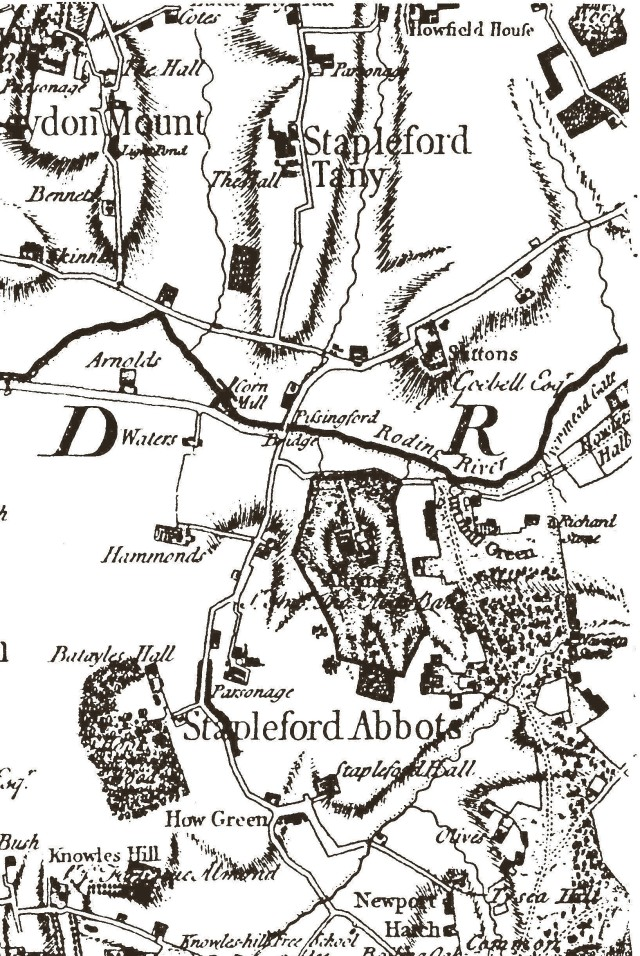 A map of the area from 1777